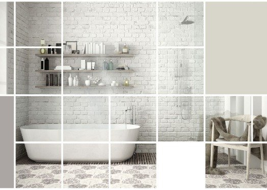 a fully tiled bathroom at Mitcham Tilers